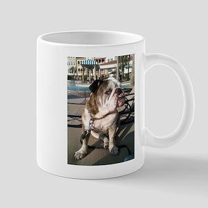 English bulldog at a resort Mugs