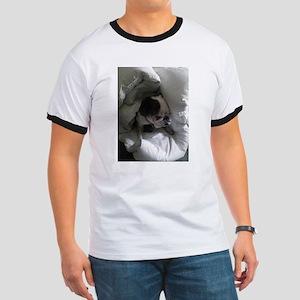 English bulldog in linen heaven T-Shirt
