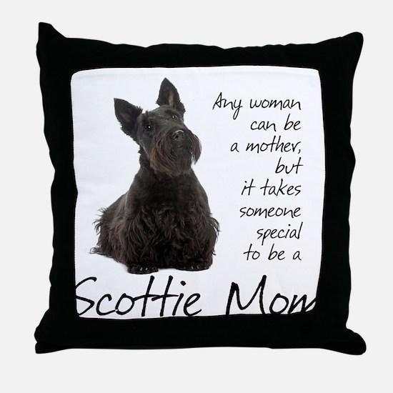 Scottie Mom Throw Pillow