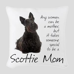 Scottie Mom Woven Throw Pillow