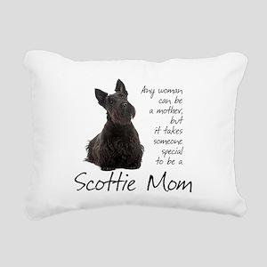Scottie Mom Rectangular Canvas Pillow