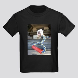 English bulldog with tug toy T-Shirt
