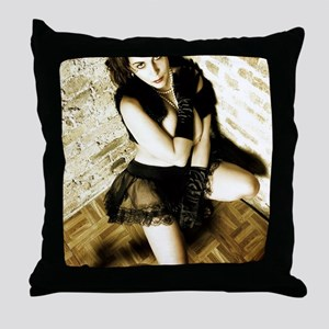 Sexy Woman in Lingerie Throw Pillow