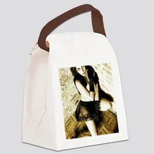 Sexy Woman in Lingerie Canvas Lunch Bag