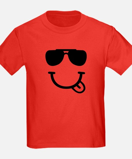 Smiley face sunglasses T