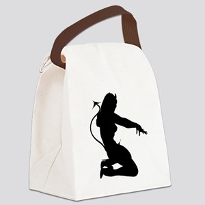 Sexy Devil Silhouette Canvas Lunch Bag