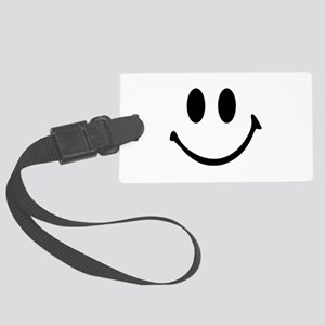 Smiley face Large Luggage Tag