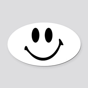 Smiley face Oval Car Magnet