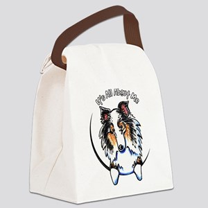 Blue Merle Sheltie IAAM Canvas Lunch Bag