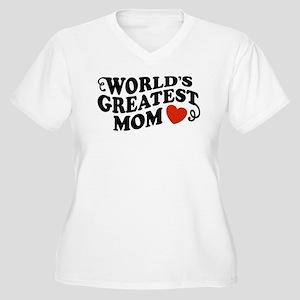 World's Greatest Mom Women's Plus Size V-Neck T-Sh