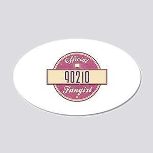 Official 90210 Fangirl 22x14 Oval Wall Peel