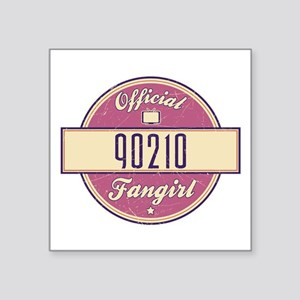 "Official 90210 Fangirl Square Sticker 3"" x 3"""