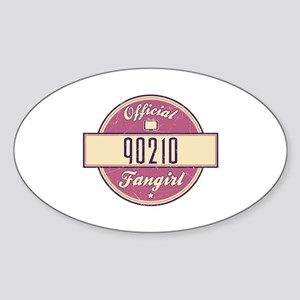 Official 90210 Fangirl Oval Sticker