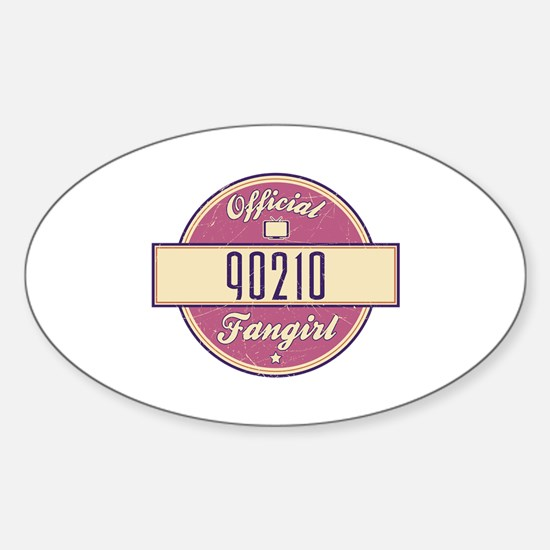 Official 90210 Fangirl Oval Decal