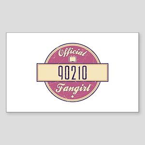 Official 90210 Fangirl Rectangle Sticker