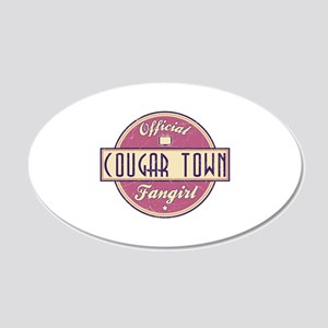 Official Cougar Town Fangirl 22x14 Oval Wall Peel
