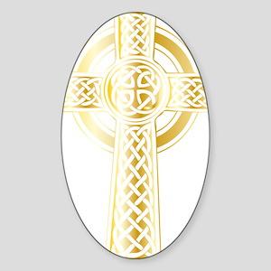 Celtic Kross Sticker (Oval)