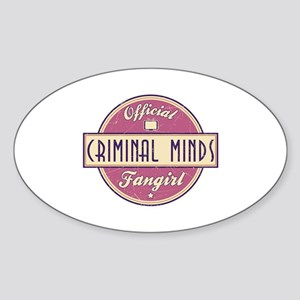 Official Criminal Minds Fangirl Oval Sticker