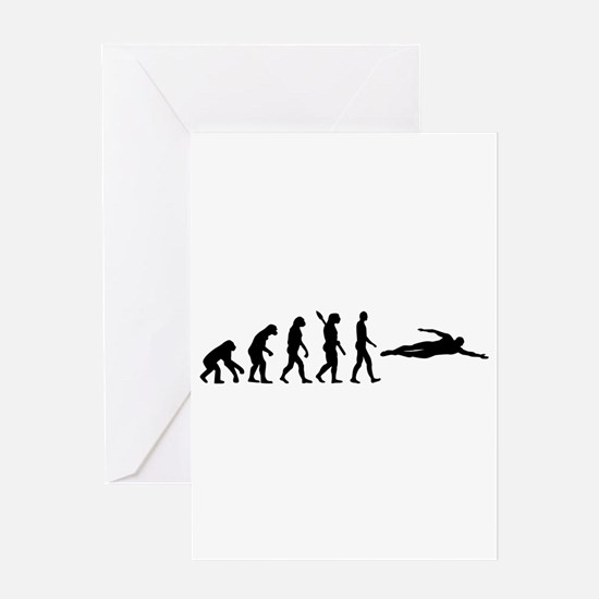 Swimming evolution Greeting Card