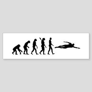Swimming evolution Sticker (Bumper)