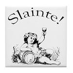 Irish Toast Wine Tile Coaster