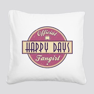 Official Happy Days Fangirl Square Canvas Pillow