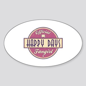 Official Happy Days Fangirl Oval Sticker