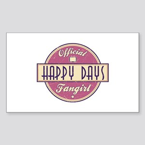 Official Happy Days Fangirl Rectangle Sticker