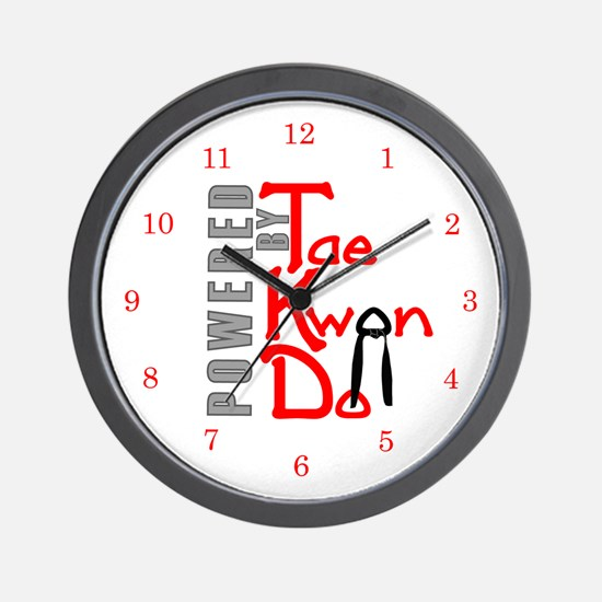 Powered by Tae Kwon Do Wall Clock