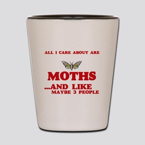All I care about are Moths Shot Glass