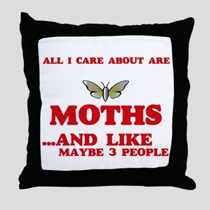 All I care about are Moths Throw Pillow