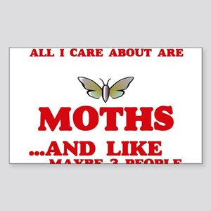 All I care about are Moths Sticker