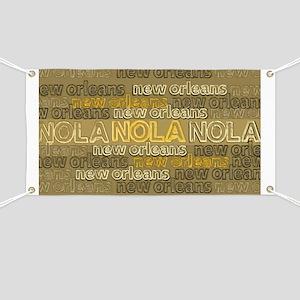 NOLA Gold Bronze Design Banner