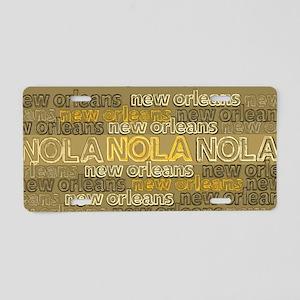 NOLA Gold Bronze Design Aluminum License Plate