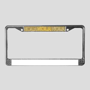 NOLA Gold Bronze Design License Plate Frame