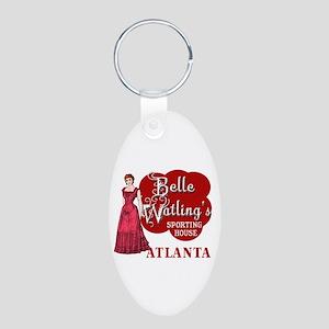 Belle Watling's with Fancy Lady Aluminum Oval Keyc