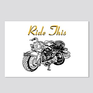 Ride This Motorcycle Shirt Postcards (Package of 8