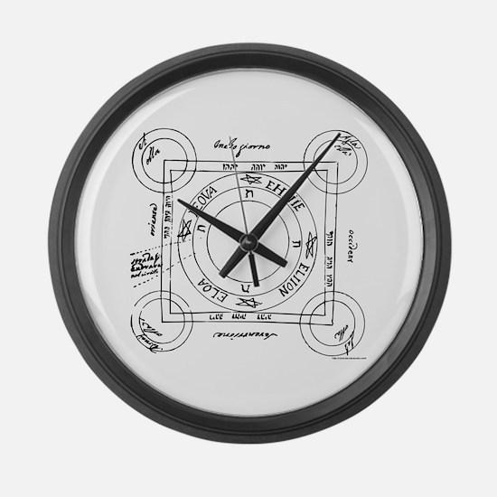 Tetragramaton II Large Wall Clock