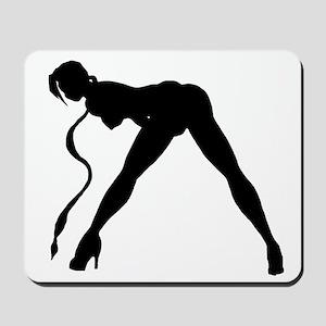 Exotic Dancer Silhouette Mousepad