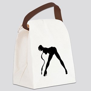 Exotic Dancer Silhouette Canvas Lunch Bag