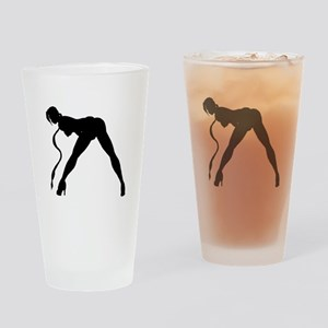 Exotic Dancer Silhouette Drinking Glass