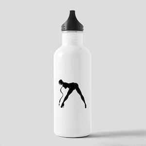 Exotic Dancer Silhouette Water Bottle