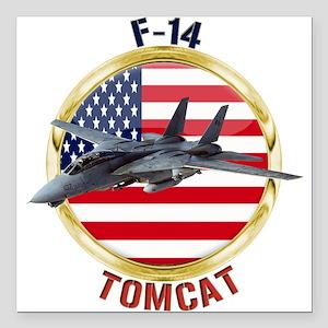 """F-14 Tomcat Square Car Magnet 3"""" x 3"""""""