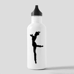 Figure Skater Silhouette Water Bottle