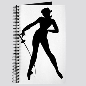 Fencer Woman Silhouette Journal