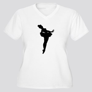 Ballerina Silhouette Plus Size T-Shirt