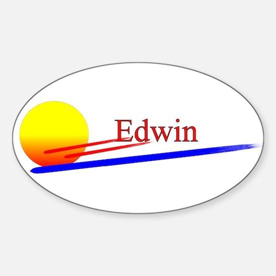 Edwin Oval Decal
