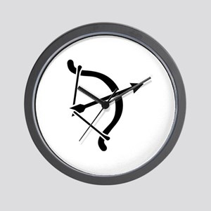 Archery arrow bow Wall Clock