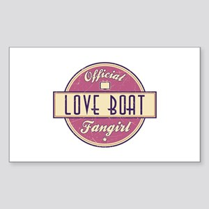 Official Love Boat Fangirl Rectangle Sticker