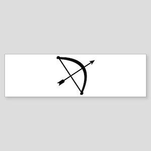 Bow arrow hunter Sticker (Bumper)